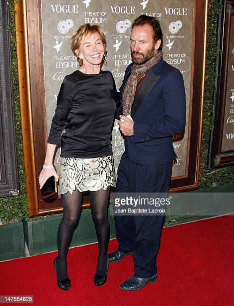 Musician Sting and Trudie Stlyer arrive at the Art of Elysium 2nd Annual Heaven Gala held at Vibiana on January 10, 2009 in Los Angeles, California.