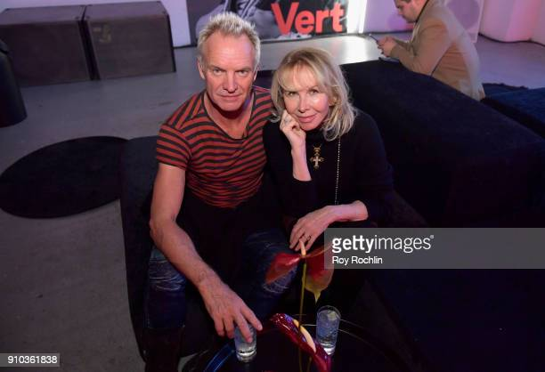 Musician Sting and Trudie Styler attend 'Spotify's Best New Artist Party' at Skylight Clarkson on January 25 2018 in New York City