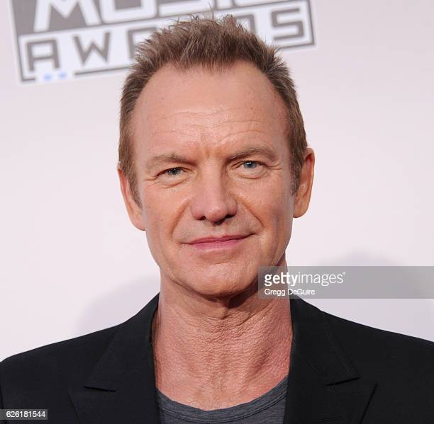 Musician Sting arrives at the 2016 American Music Awards at Microsoft Theater on November 20 2016 in Los Angeles California