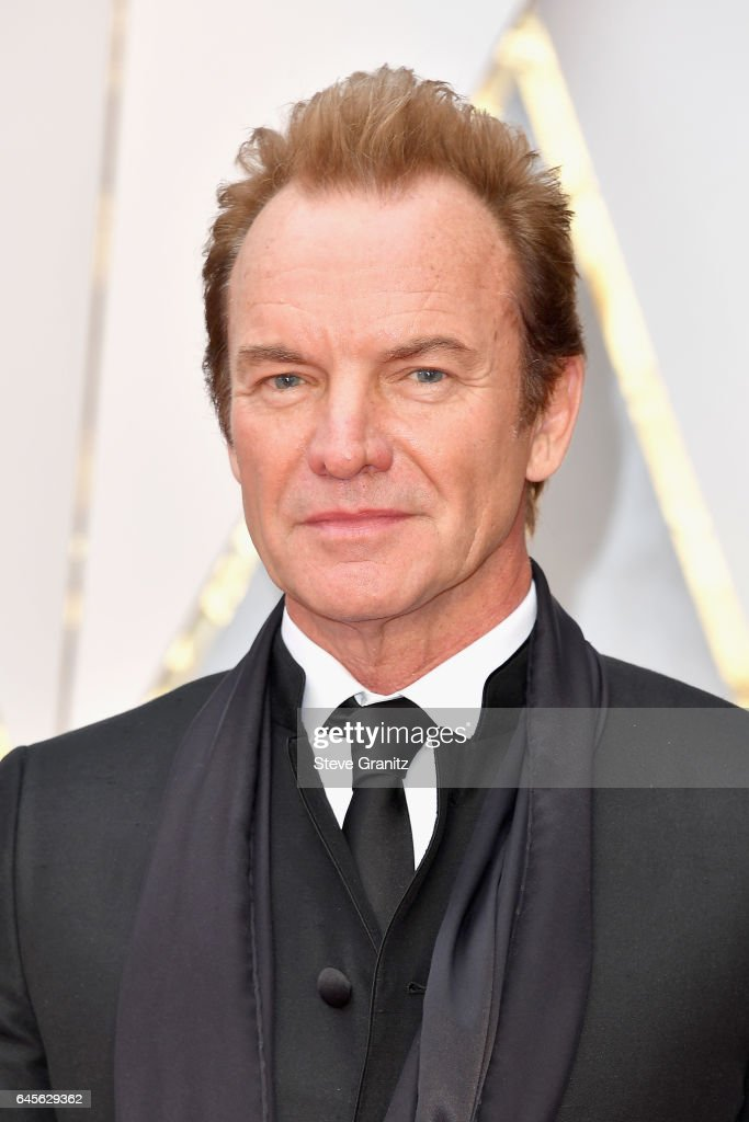 Musician Sting attends the 89th Annual Academy Awards at Hollywood & Highland Center on February 26, 2017 in Hollywood, California.