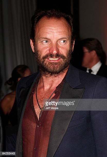 Musician Sting attends The Art of Elysium 2nd Annual Heaven Gala held at Vibiana on January 10, 2009 in Los Angeles, California.