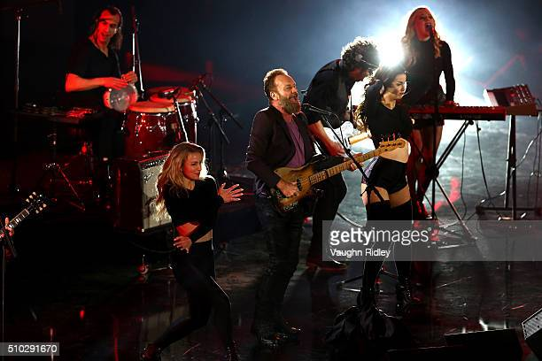Musician Sting performs at halftime during the NBA AllStar Game 2016 at the Air Canada Centre on February 14 2016 in Toronto Ontario NOTE TO USER...