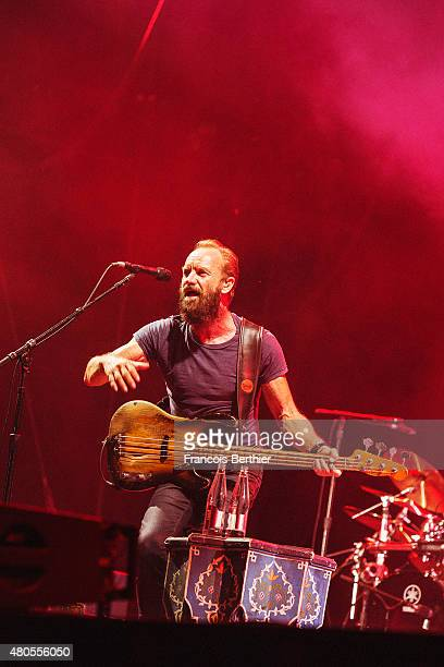 Musician Sting performs on July 4 2015 in Paris France