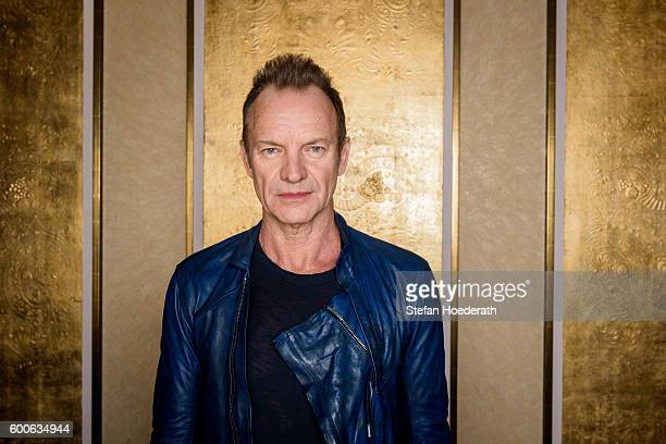 Musician Sting poses for a photo during Universal Inside 2016 organized by Universal Music Group at MercedesBenz Arena on September 8 2016 in Berlin...