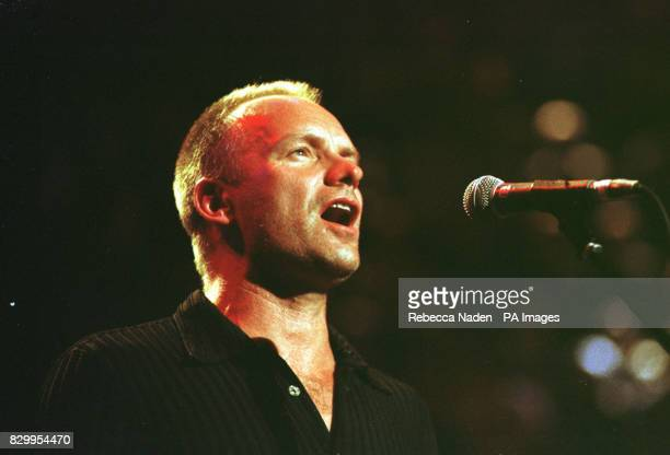 Musician Sting sings at the 'Music for Montserrat' benefit concert * It is announced that Sting and eric Clapton are among the stars in the running...