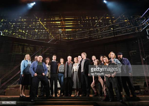 Musician Sting stands with cast members during 'The Last Ship' photocall at Northern Stage on March 16 2018 in Newcastle Upon Tyne England Sting's...