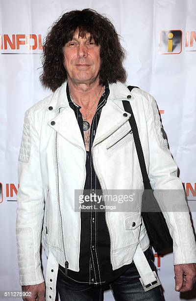 Musician Stuart Smith arrives for the InfoList PreOscar Soiree And Birthday Party for Jeff Gund held at OHM Nightclub on February 18 2016 in...