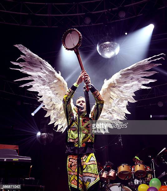 Musician Sufjan Stevens performs on the Sutro Stage during the 2016 Outside Lands Music And Arts Festival at Golden Gate Park on August 6 2016 in San...