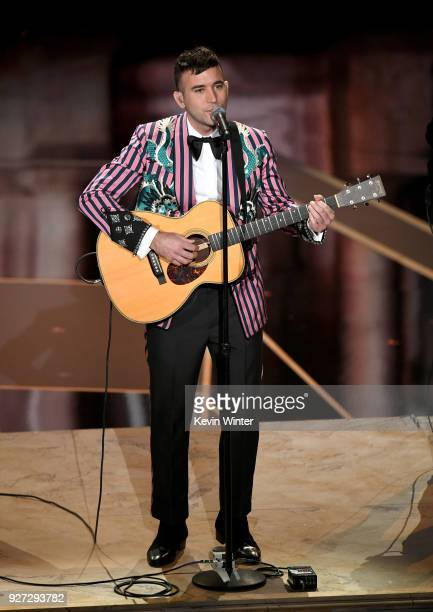 Musician Sufjan Stevens performs onstage during the 90th Annual Academy Awards at the Dolby Theatre at Hollywood Highland Center on March 4 2018 in...