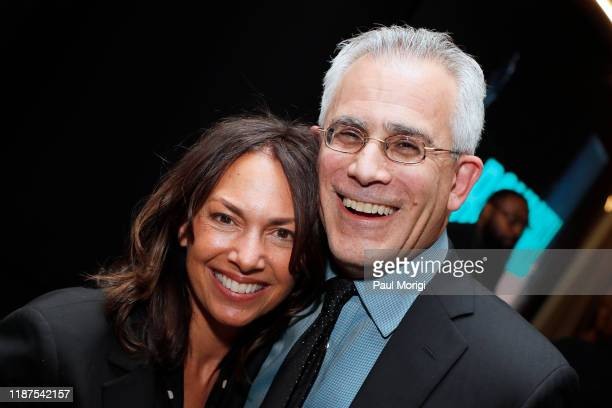Musician Susanna Hoffs and Journalist David Corn attend the Bombshell Special Screening at the MPAA on November 13 2019 in Washington DC