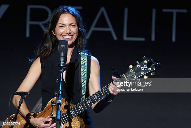 Musician Susanna Hoffs of The Bangles performs onstage during Equality Now's third annual Make Equality Reality Gala on December 5 2016 in Beverly...