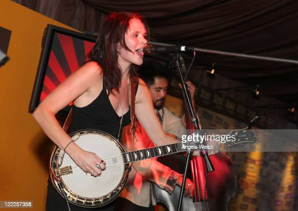 Musician Suzanne Santo of HoneyHoney performs onstage at the Musical Performance HoneyHoney Zee Avi Chris Pierce during the 2010 Los Angeles Film...
