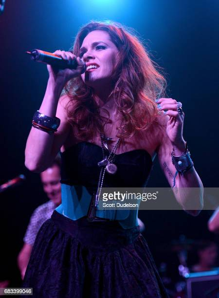 Musician Suzanne Santo of Honeyhoney performs onstage during the Strange 80's benefit at The Fonda Theatre on May 14 2017 in Los Angeles California