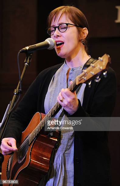 """Musician Suzanne Vega performs songs from her new album """"Close Up Vol. 1: Love Songs: at Barnes & Noble at The Grove on February 15, 2010 in Los..."""