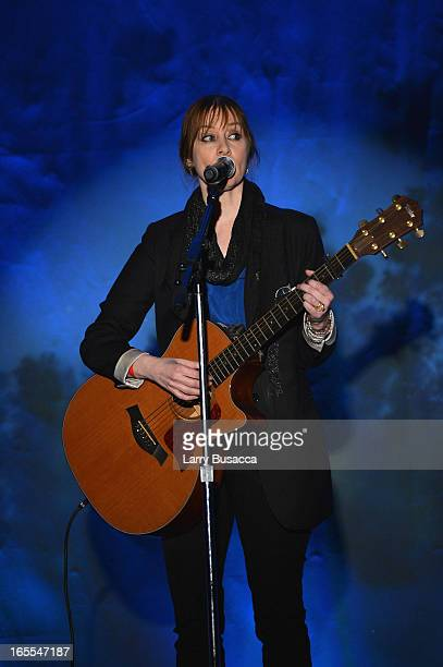 Musician Suzanne Vega preforms at SeriousFun Children's Network event honoring Liz Robbins with celebrity guests at Pier Sixty at Chelsea Piers on...