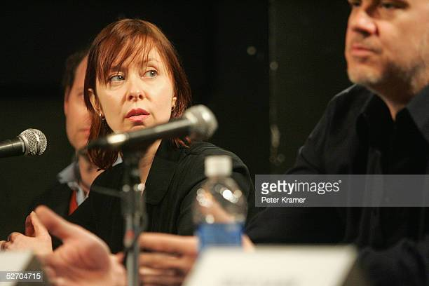 Musician Suzanne Vega speaks at 'The Soundtrack' panel part of the Tribeca Talks program during the Tribeca Film Festival at the Knitting Factory...