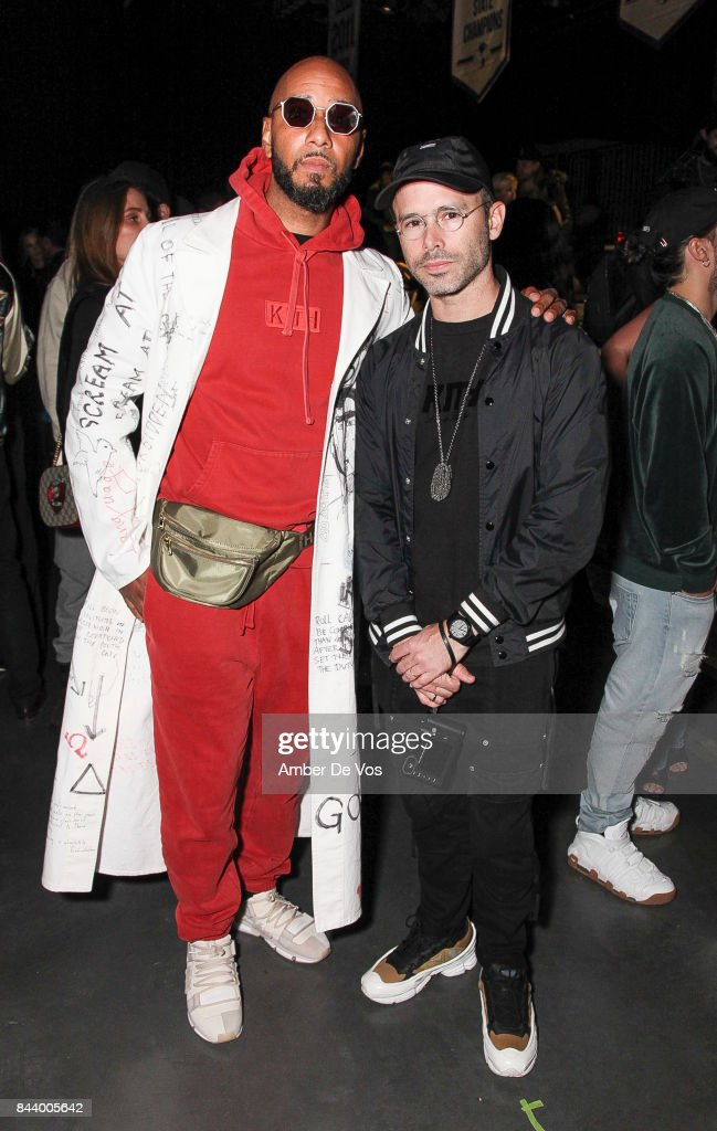 Musician Swizz Beats and Artist Daniel Arsham attends Kith Sport fashion show at Classic Car Club on September 7, 2017 in New York City.