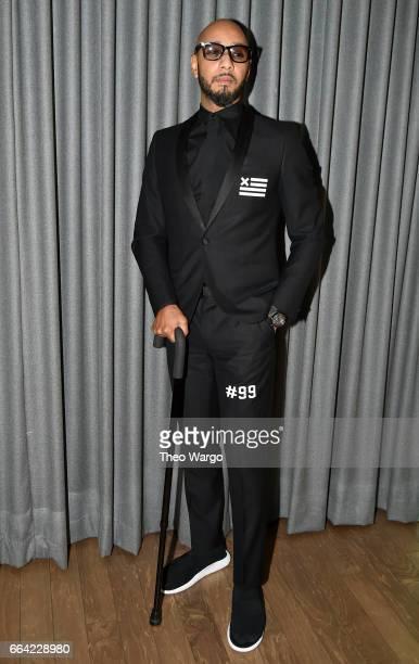 Musician Swizz Beatz attends the Brooklyn Artists Ball 2017 at Brooklyn Museum on April 3 2017 in New York City