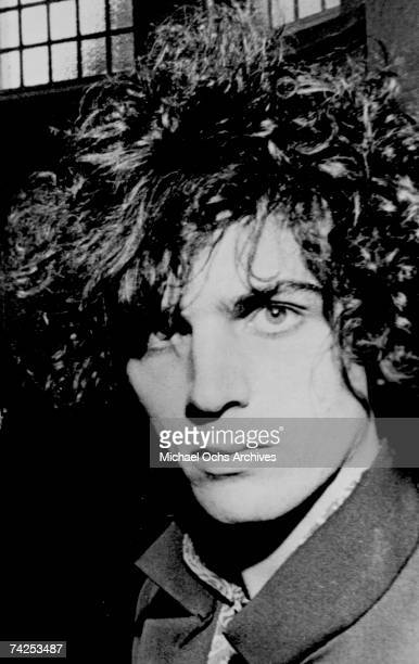 Musician Syd Barrett of the rock and roll band 'Pink Floyd' poses for a portrait in 1967 in London England