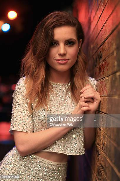 Musician Sydney Sierota of Echosmith poses backstage during MTV Artists to Watch at House of Blues Sunset Strip on February 5 2015 in West Hollywood...