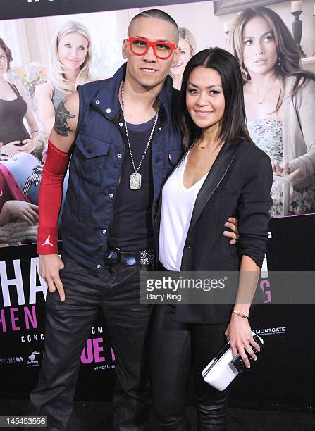 Musician Taboo of Black Eyed Peas and Jaymie Dizon arrive at the Los Angeles Premiere 'What To Expect When You're Expecting' at Grauman's Chinese...