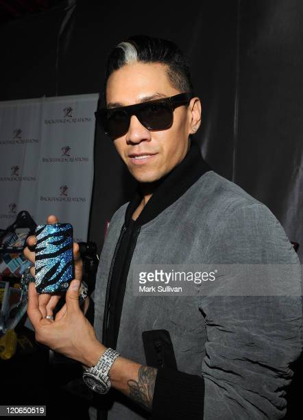 Musician Taboo of The Black Eyed Peas attends Backstage Creations Celebrity Retreat during Teen Choice 2011 day 2 at Gibson Amphitheatre on August 7...