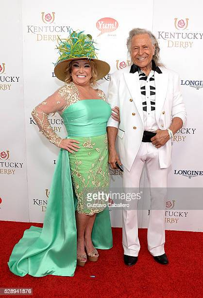 Musician Tanya Tucker and executive Peter Nygard attend the 142nd Kentucky Derby at Churchill Downs on May 07 2016 in Louisville Kentucky