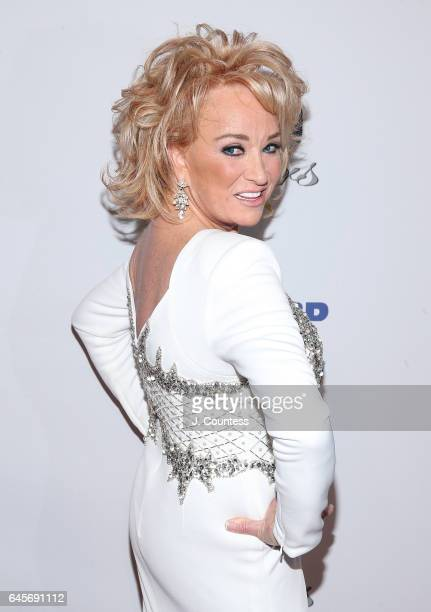 Musician Tanya Tucker attends The 27th Annual Night Of 100 Stars Black Tie Dinner Viewing Gala at the Beverly Hilton Hotel on February 26 2017 in...