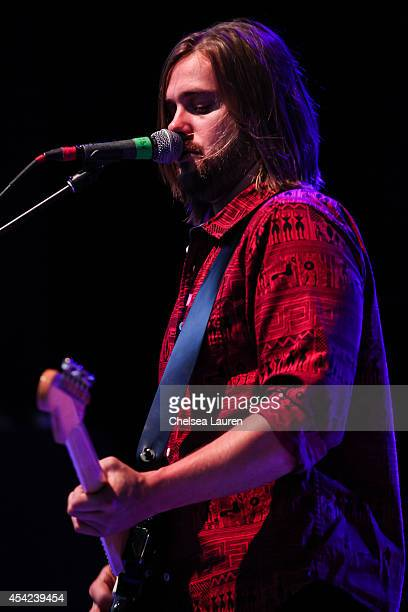 Musician Tasso Smith of Youngblood Hawke performs at The Greek Theatre on August 26 2014 in Los Angeles California