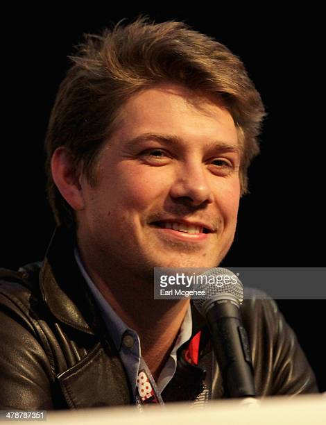 """Musician Taylor Hanson speaks onstage at """"When to Tune Out the Trainwreck"""" during the 2014 SXSW Music, Film + Interactive Festival at Austin..."""