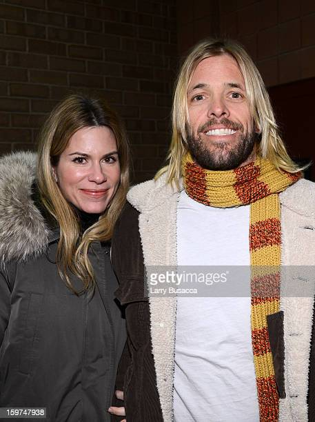 Musician Taylor Hawkins of Foo Fighters and Alison Hawkins attend the History of the Eagles Part 1 premiere and QA during the 2013 Sundance Film...
