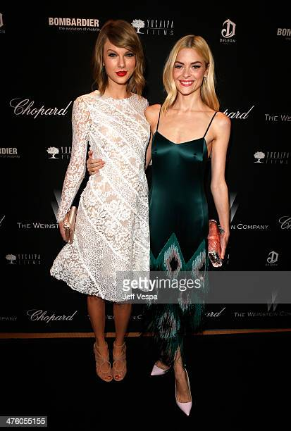 Musician Taylor Swift and actress Jaime King attend The Weinstein Company's Academy Award party hosted by Chopard and DeLeon Tequila at Montage...