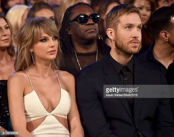 Musician Taylor Swift and musician Calvin Harris attend the 2015 Billboard Music Awards at MGM Grand Garden Arena on May 17 2015 in Las Vegas Nevada