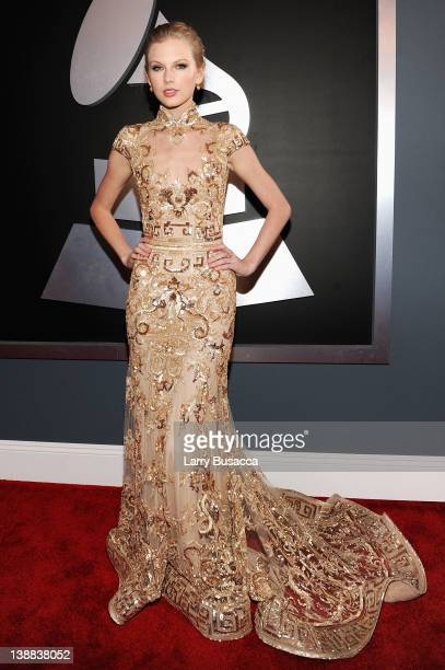 Musician Taylor Swift arrives at the 54th Annual GRAMMY Awards held at Staples Center on February 12 2012 in Los Angeles California