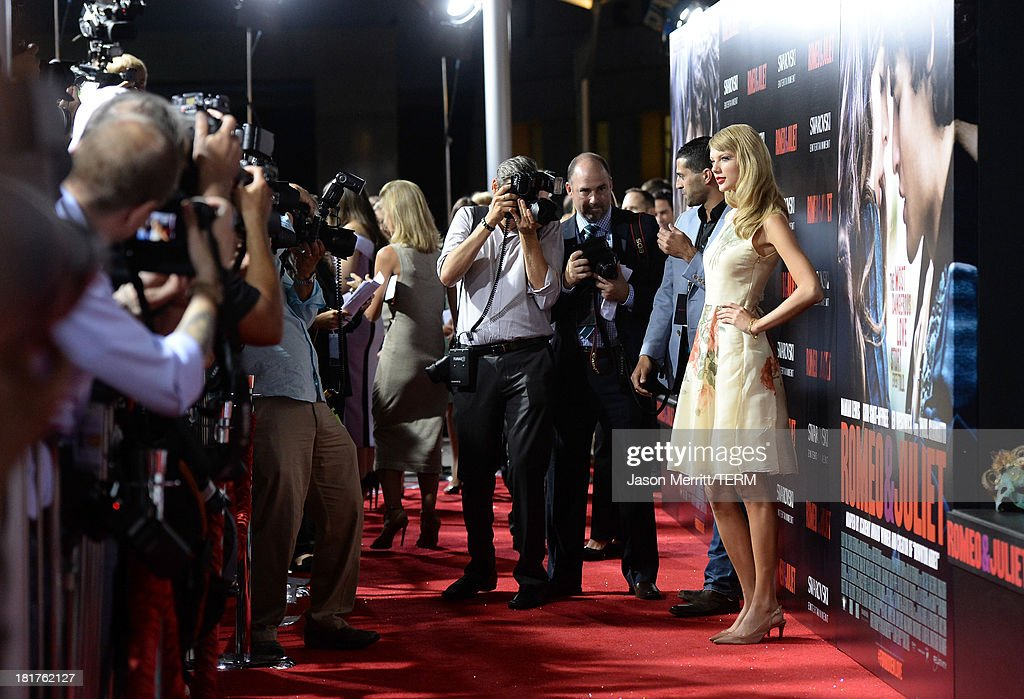 Musician Taylor Swift arrives at the premiere of Relativity Media's 'Romeo & Juliet' at ArcLight Hollywood on September 24, 2013 in Hollywood, California.