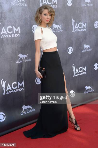 Musician Taylor Swift attends the 49th Annual Academy Of Country Music Awards at the MGM Grand Garden Arena on April 6 2014 in Las Vegas Nevada