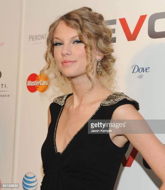 Musician Taylor Swift attends the launch of VEVO a musicvideo website at Skylight Studio on December 8 2009 in New York City