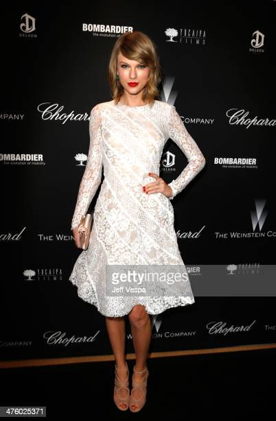 Musician Taylor Swift attends The Weinstein Company's Academy Award party hosted by Chopard and DeLeon Tequila at Montage Beverly Hills on March 1...