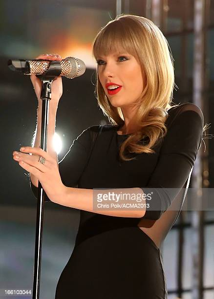 Musician Taylor Swift performs onstage during Tim McGraw's Superstar Summer Night presented by the Academy of Country Music at the MGM Grand Garden...