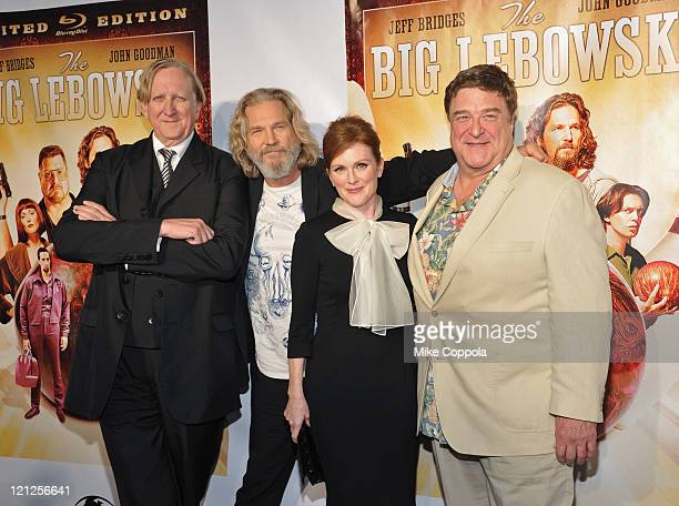 Musician TBone Burnett actors Jeff Bridges Julianne Moore and John Goodman attend 'The Big Lebowski' Bluray release at the Hammerstein Ballroom on...