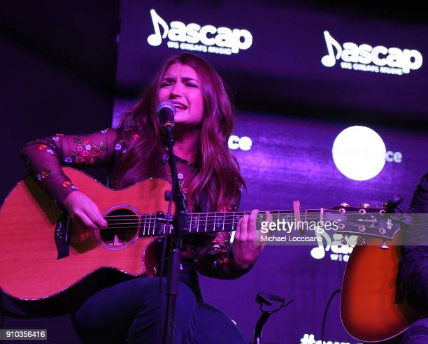 Musician Tenille Townes performs for the CMA Songwriters Series during the 2018 Sundance Film Festival at the Sundance ASCAP Music Cafe on January 25...