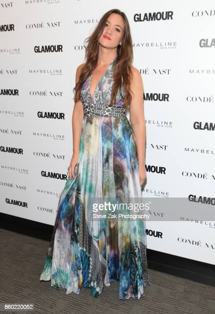Musician Tennille Amor attends 2017 Glamour International Day Of The Girl Rally at Merkin Concert Hall on October 11, 2017 in New York City.