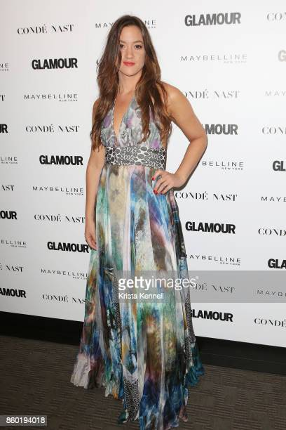 Musician Tennille Amor attends the 2017 Glamour International Day Of The Girl Rally at Merkin Concert Hall on October 11, 2017 in New York City.