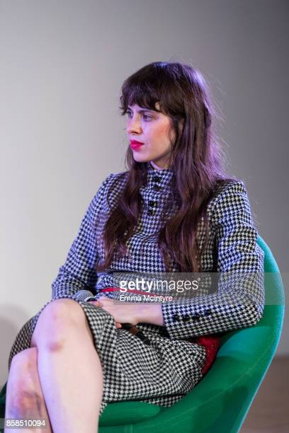 Musician Teresa Suarez Cosio aka 'Teri Gender Bender' speaks onstage at 'A conversation with Alice Bag Red Bull Music Academy Festival' at MOCA Grand...