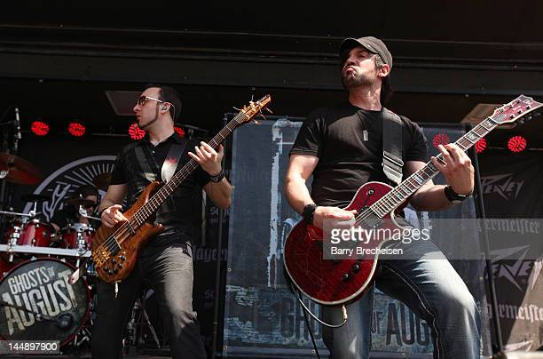 Musician Terry Freers and Paul Delmotte of Ghosts of August perform during the 2012 Rock On The Range festival at Crew Stadium on May 20 2012 in...