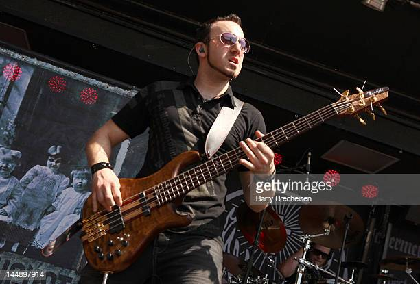 Musician Terry Freers of Ghosts of August performs during the 2012 Rock On The Range festival at Crew Stadium on May 20 2012 in Columbus Ohio
