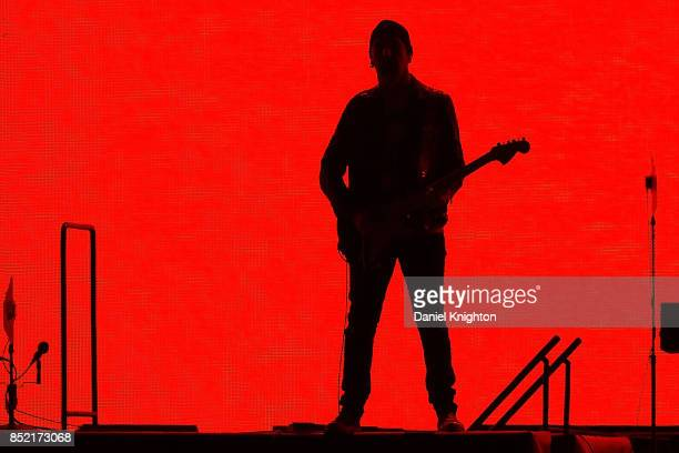 Musician The Edge performs on stage on the final night of U2 The Joshua Tree Tour 2017 at SDCCU Stadium on September 22 2017 in San Diego California