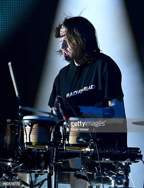 Musician Thom Green of AltJ performs onstage during day two of the 25th annual KROQ Almost Acoustic Christmas at The Forum on December 13 2014 in...