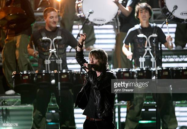 Musician Thom Yorke of Radiohead onstage at the 51st Annual GRAMMY Awards held at the Staples Center on February 8 2009 in Los Angeles California