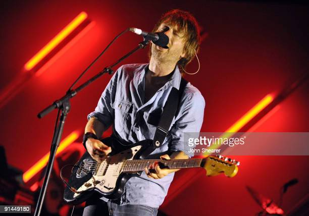 Musician Thom Yorke performs at the Orpheum Theatre on October 4 2009 in Los Angeles California